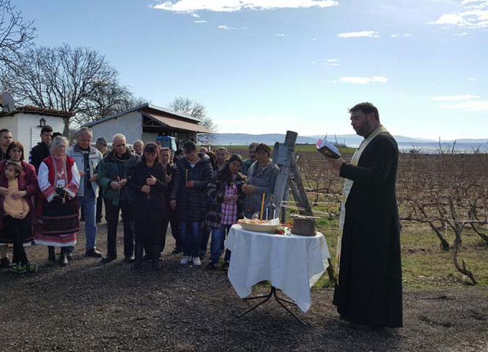 Gulbanis winery made a proper celebration of St Tryphon's Day